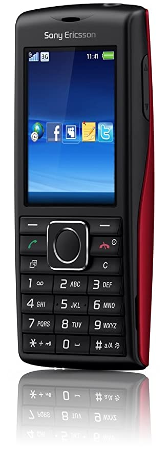 Sony Ericsson Cedar Handy (UMTS, HSDPA, 2MP, 3.5mm Klinkenstecker, Micro-USB Anschluss) schwarz/rot
