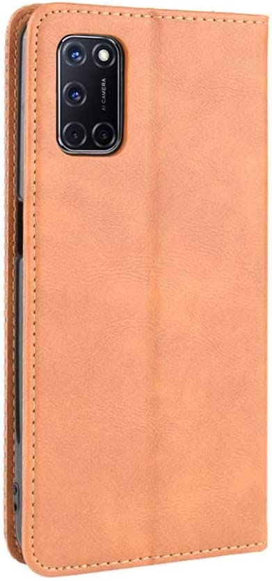and KERUN Case for OPPO A52//A72//A92 Filp Case Card Slots Magnetic Closure Full Protection Book Design Wallet Flip Cover for OPPO A52//A72//A92 with Kickstand Blue