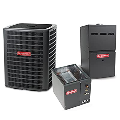 4 Ton 14 SEER 100k BTU 80% AFUE 2 Stage Multi Speed Goodman Central Air Conditioner & Gas Split System - Upflow