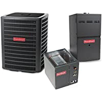 2.5 Ton 14 SEER 80k BTU 80% AFUE 2 Stage Multi Speed Goodman Central Air Conditioner & Gas Split System - Upflow