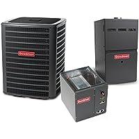 3 Ton 14 SEER 80k BTU 80% AFUE 2 Stage Multi Speed Goodman Central Air Conditioner & Gas Split System - Upflow