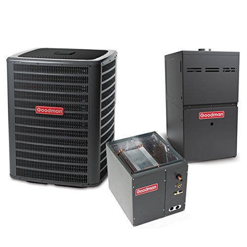 Goodman 5 Ton 14 SEER 120k BTU 80% AFUE 2 Stage Multi Speed Central Air Conditioner & Gas Split System - Upflow