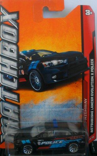 Matchbox MBX 2012 Highway Series Mitsubishi Lancer Evolution X Police - #80 of 120