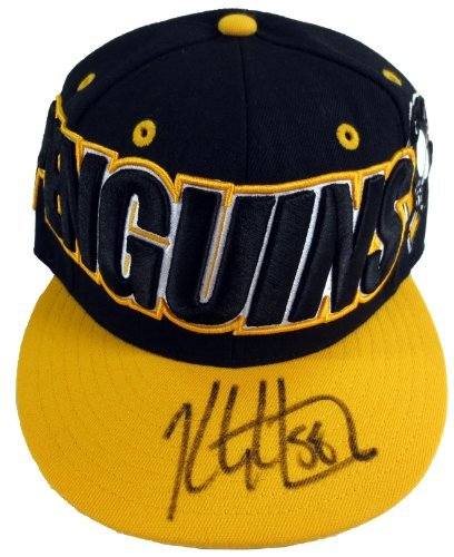 Kris Letang Autographed Pittsburgh Penguins Mitchell & Ness Fitted Hat - JSA Witness - Ross Park Pittsburgh