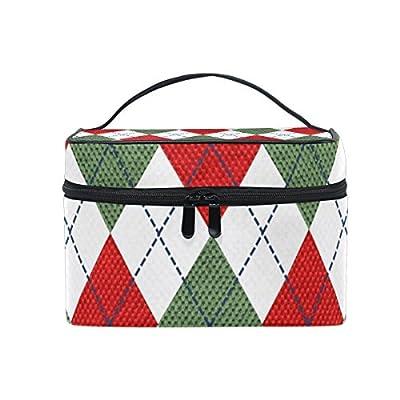 7637cae122ba good OREZI Large Cosmetic Bag Multifunction MakeUp Bag Portable Zip Travel  Cosmetic Brush Bag Organizer Red