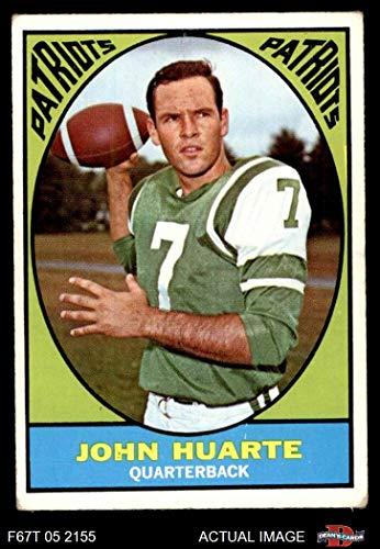 1967 Topps # 1 John Huarte New England Patriots (Football Card) Dean's Cards 3 - VG Patriots