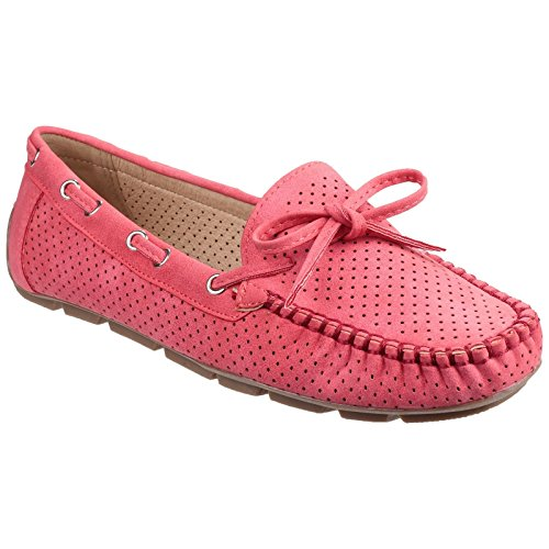amp; Loafer On Ladies Perforated Slip Venus Fleet Foster Womens Taupe BUw8xSdS