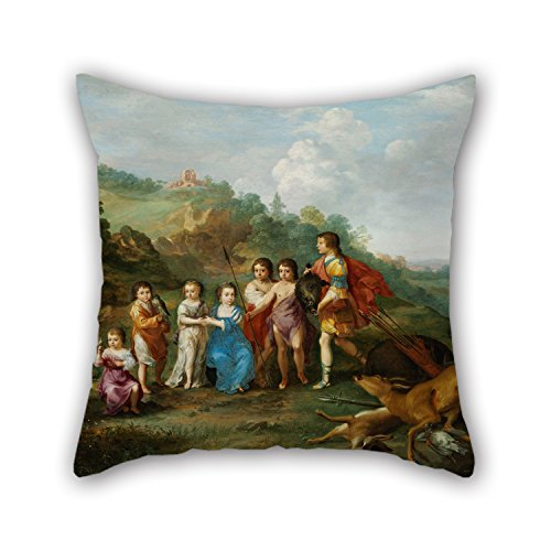 Bestseason Oil Painting Cornelis Van Poelenburgh - The Seven Children Of The Winterking Pillow Shams ,best For Her,divan,dinning Room,gril Friend,family,son 20 X 20 Inches / 50 By 50 Cm(twin Sides) (Season 7 Modern Family Halloween)
