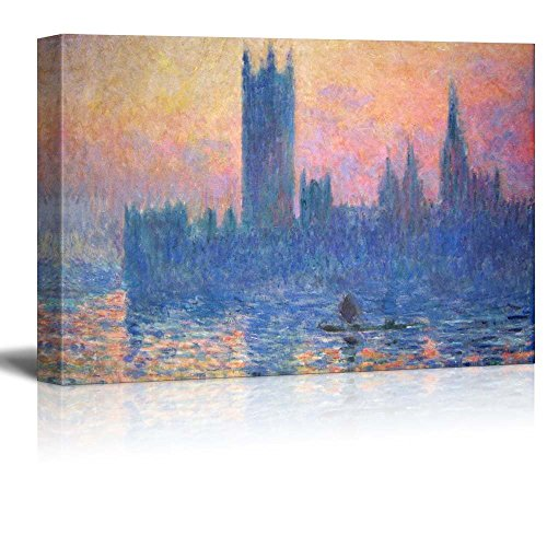 The Houses of Parliament Sunset by Claude Monet Impressionist Art