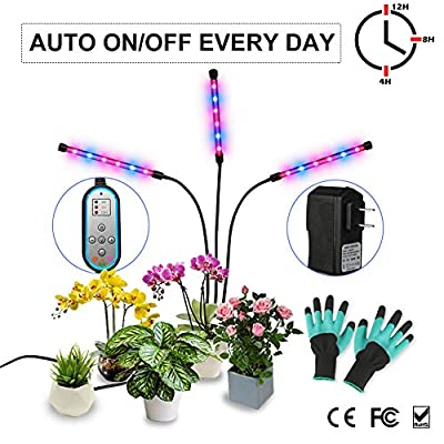 Grow Light, Growing Lamp for Indoor Plants with Timer