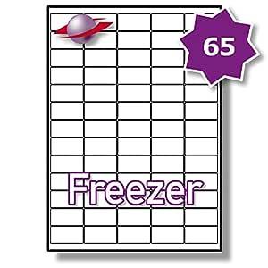 65/hoja por página, 25 hojas (1625 MINI congelador etiquetas ...