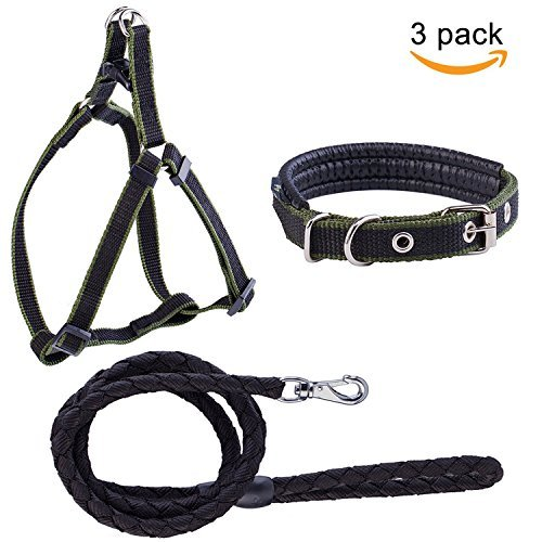 Black Beker Leash Harness for Small Pet Collar for Training Walking Running Heavy Duty Adjustable Harness (black)
