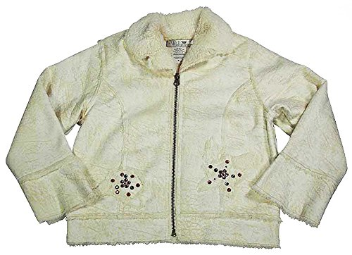 Widgeon By Sara's Prints - Little Girls' Faux Shearling Jacket, Cream (Widgeon Saras Prints)