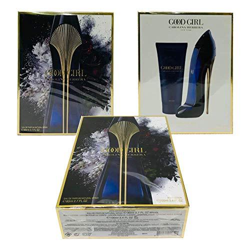 Carolina Herrera Good Girl For Women Gift Set (Eau De Parfum Spray 2.7 oz.+ Body/Lotion 3.4.oz) (Perfumes For Grils)