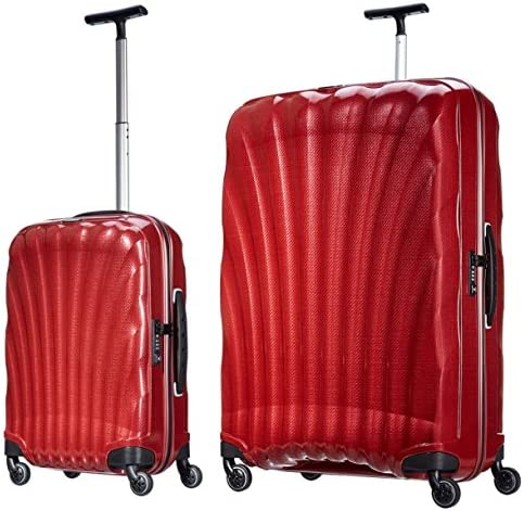 """Samsonite Luggage Black Label Cosmolite 2 Piece Spinner Luggage Set, 32"""" and 20"""" (One dimension, Red)"""