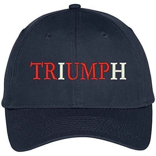 e5387cc42 Trendy Apparel Shop Triumph Donald Trump Embroidered High Profile Baseball  Cap - Navy