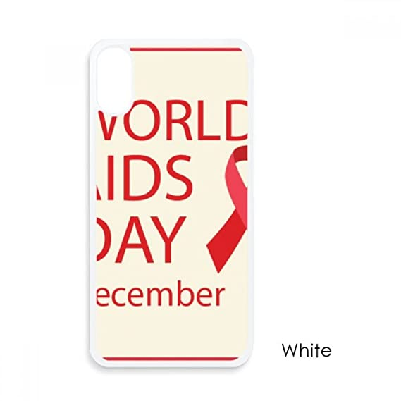 HIV Red Ribbon 1st December AIDS Day For iPhone X Cases White Phonecase  Apple Cover Case