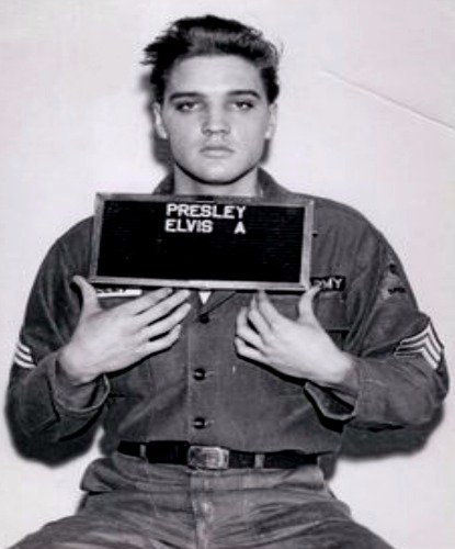 ELVIS PRESLEY ARMY MUGSHOT GLOSSY POSTER PICTURE PHOTO BANNE