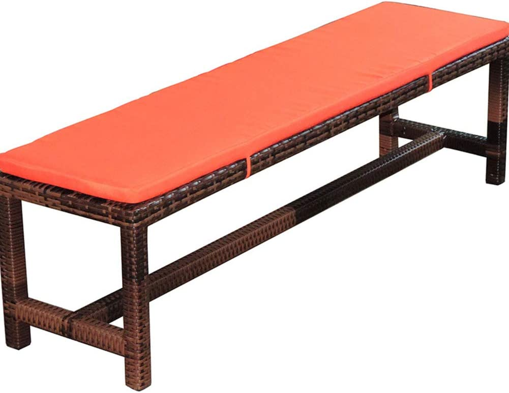 Cuscino per panca da giardino 2 posti per panca da pranzo a 3 posti per mobili da patio antiscivolo lungo cuscino per sedia da giardino viaggio sedile posteriore dellauto 100x30cm Beige