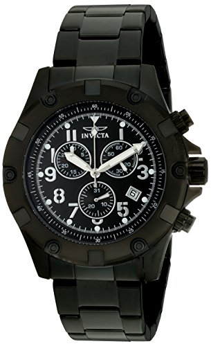 Invicta Men's 13623 Specialty Chronograph Black Dial Black Ion-Plated Stainless Steel Watch (Black Ion Plated Watch)