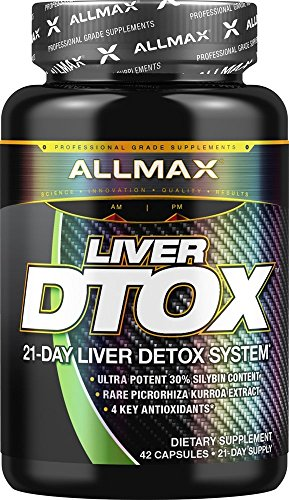 ALLMAX Nutrition Liver Dtox, 21-Day Liver Detox System, 42 Capsules
