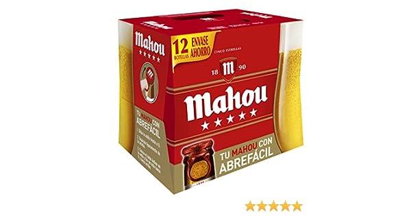 Caja cerveza mahou 5 estrellas x 12botellas 1/4: Amazon.es: Alimentación y bebidas
