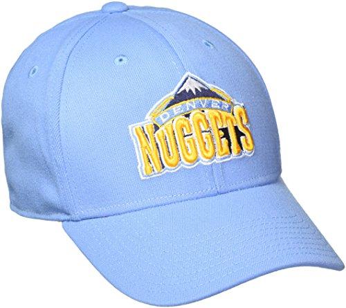 fan products of NBA Denver Nuggets Men's Structured Flex Cap, Large/X-Large, Blue