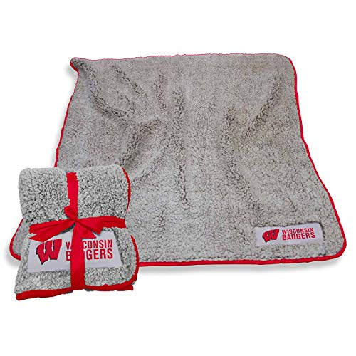 Logo Wisconsin Badgers NCAA Frosty Fleece 60 X 50 Blanket - Team Color