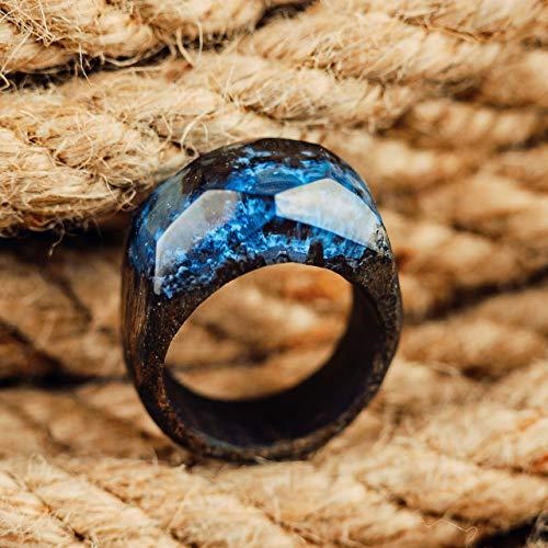 Handmade Wooden Resin Ring Designer Wood Jewelry For Women