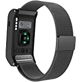 Garmin Vivoactive HR Watch Band, MoKo Milanese Loop Stainless Steel Replacement Bracelet Strap for Vivoactive HR Sports GPS Smart Watch with Unique Magnet Lock, No Buckle Needed.