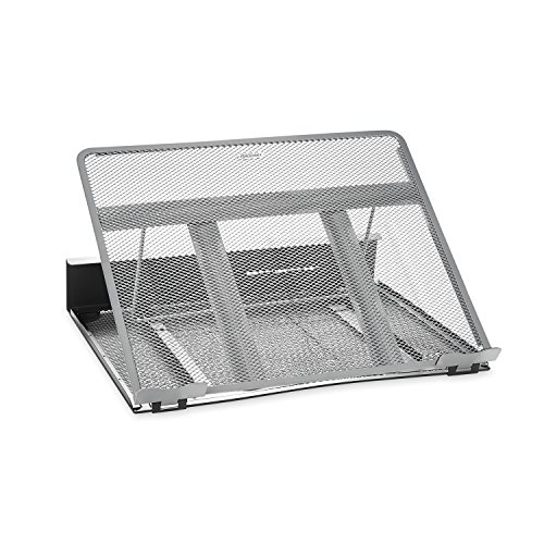 Rolodex Mesh Workspace Laptop Stand, Black/Silver ()