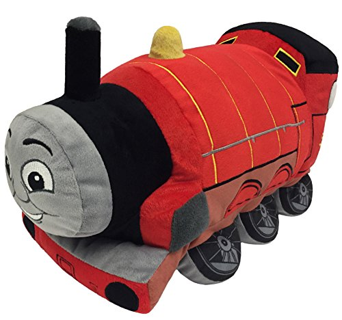 Nickelodeon Thomas and Friends Plush Stuffed James Pillow Buddy - Kids Super Soft Polyester Microfiber, 15 inch (Official Nickelodeon Product)