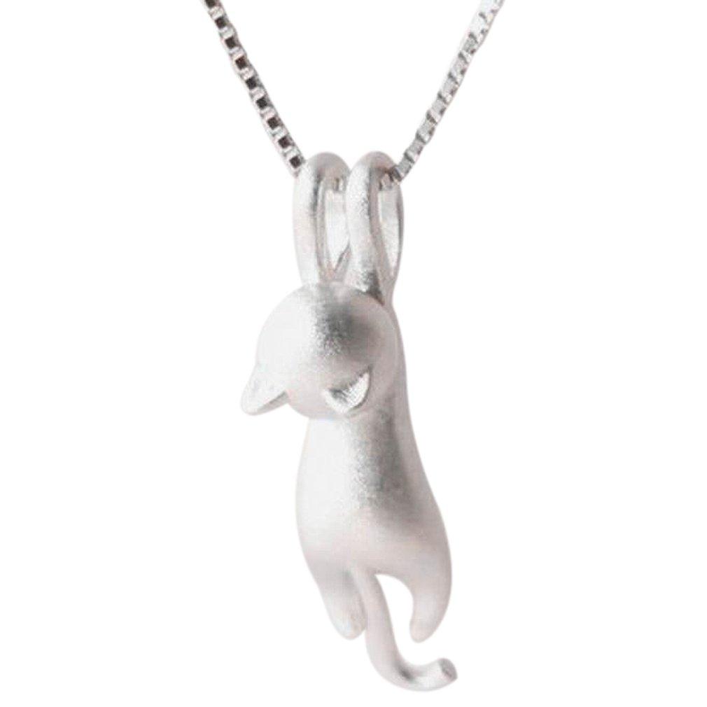 YAZILIND hermosa forma de gato colgante collar de aleación de la cadena de caja de regalo de moda para las mujeres YAZILIND JEWELRY LTD 1713N0001