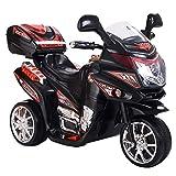 DUSTNIE Battery Operated Ride On Toys - Kids 6V 3 Wheels Futuristic Motorcycles Trike Motorbike Chopper Minibike - Black