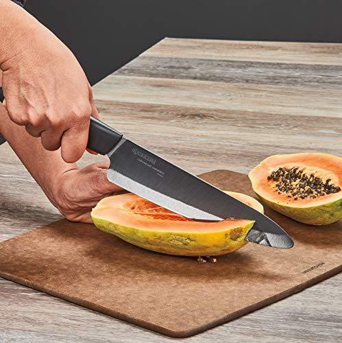 Kyocera Advanced Ceramic Revolution 4-Piece Knife Set :Includes 7-inch Chef's, 5.5-inch Santoku, 4.5-inch Utility and 3-inch Paring-Black Handle w/Black Blades