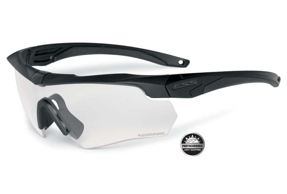 ESS Crossbow Photochromic Ballistic Eyeshields Glasses by EYE SAFETY SYSTEMS