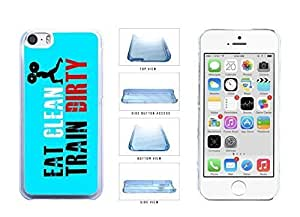 Workout Eat Clean Train Dirty Clear Plastic Phone Case Back Cover Apple iPhone 5c