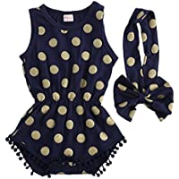 Baby Girl Ropa Oro Dots Body Romper Jumpsuit one-pieces trajes set