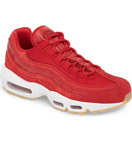 Nike Men's Air Max 95 Premium Sneaker Gym Red/Team Red/White