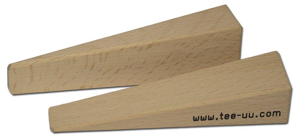 tee-uu 3D RETRACTOR Cale de S/écurit/é 2 Cales en bois par paquet