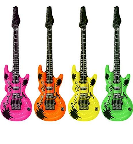 Xinyiwei - Guitarra inflable con instrumentos musicales para niños (color al azar)