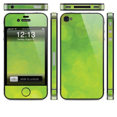 Skin für Apple iPhone 4s - Grüne Bokeh