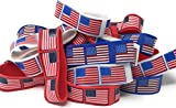 48 SVT Bulk American Flag Bracelets - Ideal Party Favors for Fourth of July Parades, 4th of July Parties, BBQ's, Picnics and Family Events