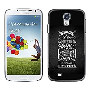 Colorful Printed Hard Protective Back Case Cover Shell Skin for SAMSUNG Galaxy S4 IV / i9500 / i9515 / i9505G / SGH-i337 ( Keep On Riding Going Black White )