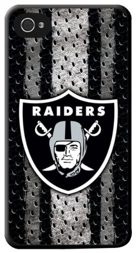 KLND1 Hard Case for iPhone 4 - 1 Pack - Retail Packaging - Oakland Raiders ()