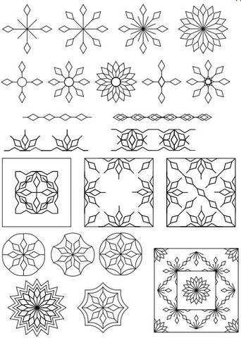 Sew Steady Westalee Spin-E-Fex Snowflake Template 8pc Set