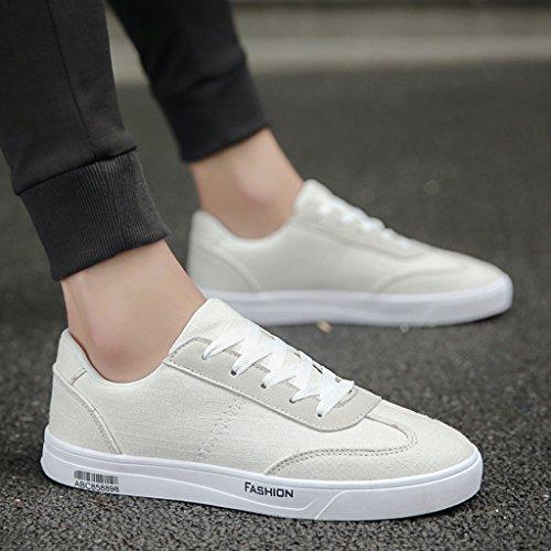 tendenza scarpe traspirante Black stile Color stile 44 Size Bianca YaNanHome estivo in selvaggio casual da Nuovo tela di basse da ufficio coreana Scarpe Espadrillas uomo scarpe di q68gqU