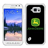 John Deere logo 1 White Shell Case for Samsung Galaxy S6 Active,Luxury Cover