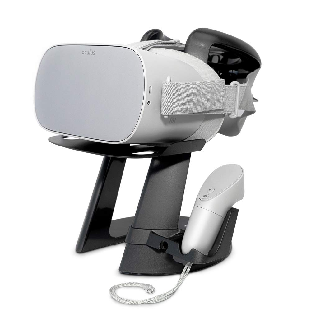 VeeR VR Headset Stand with One Controller Holder for Oculus Go, Samsung Gear VR and Google Daydream
