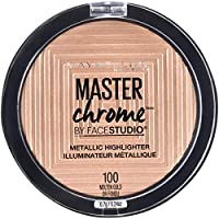 Maybelline New York Facestudio Master Chrome Resaltador de maquillaje metálico, oro fundido, 0.24 oz.